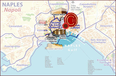 Hotels Naples, Map